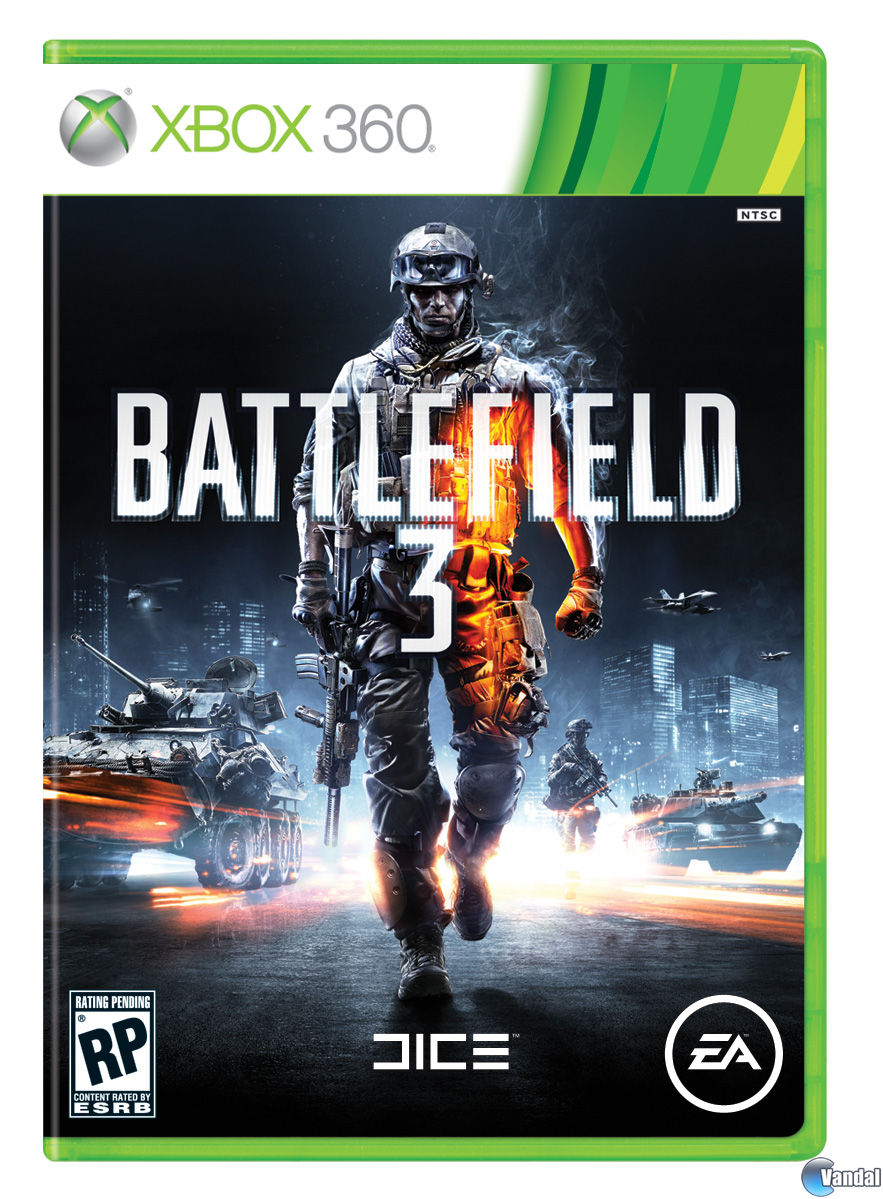 Cartula Battlefield 3 Xbox 360