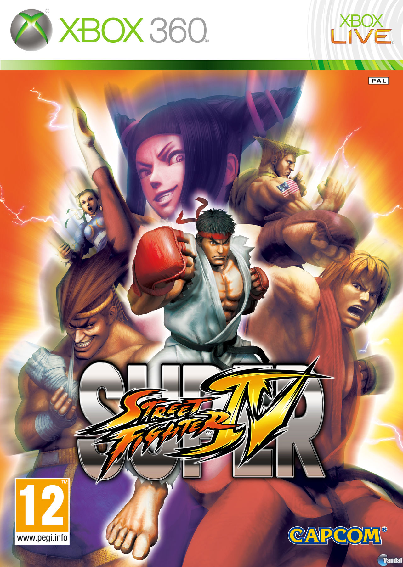 Car�tula Super Street Fighter IV Xbox 360