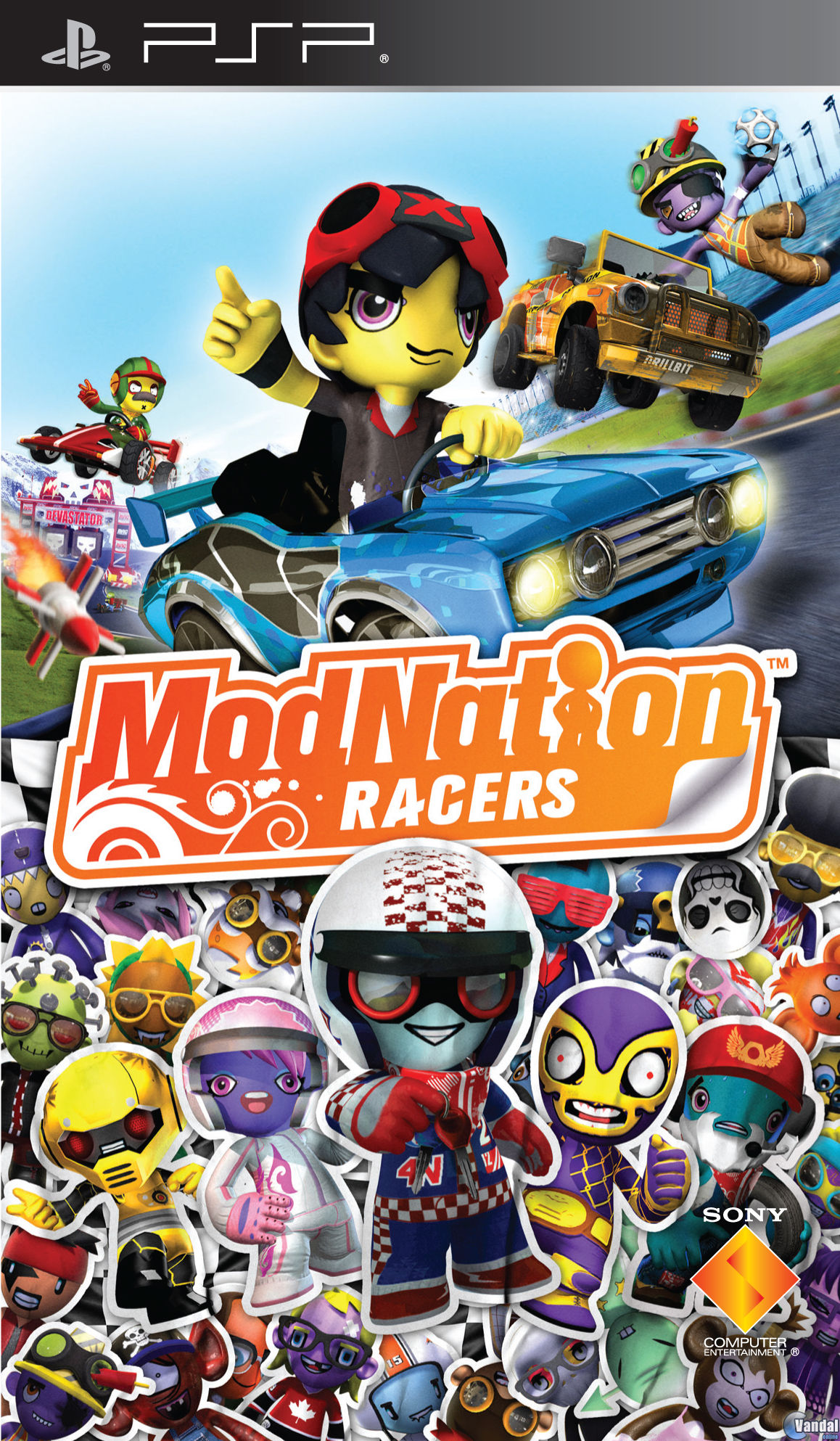 Cartula ModNation Racers PSP