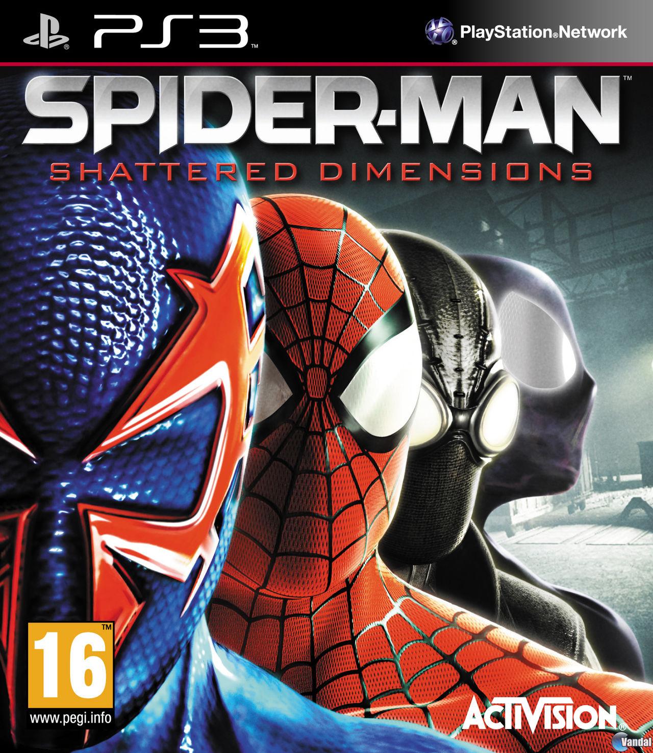 SpiderMan Shattered Dimensions TODA la informacin  PS3  Vandal