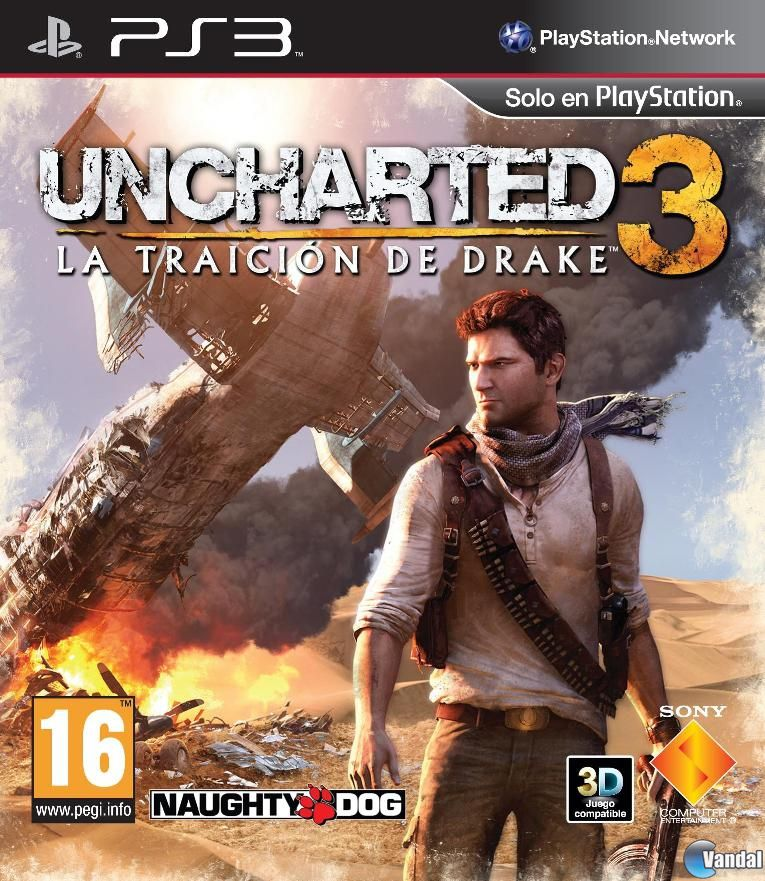 Car�tula Uncharted 3: La traici�n de Drake PlayStation 3