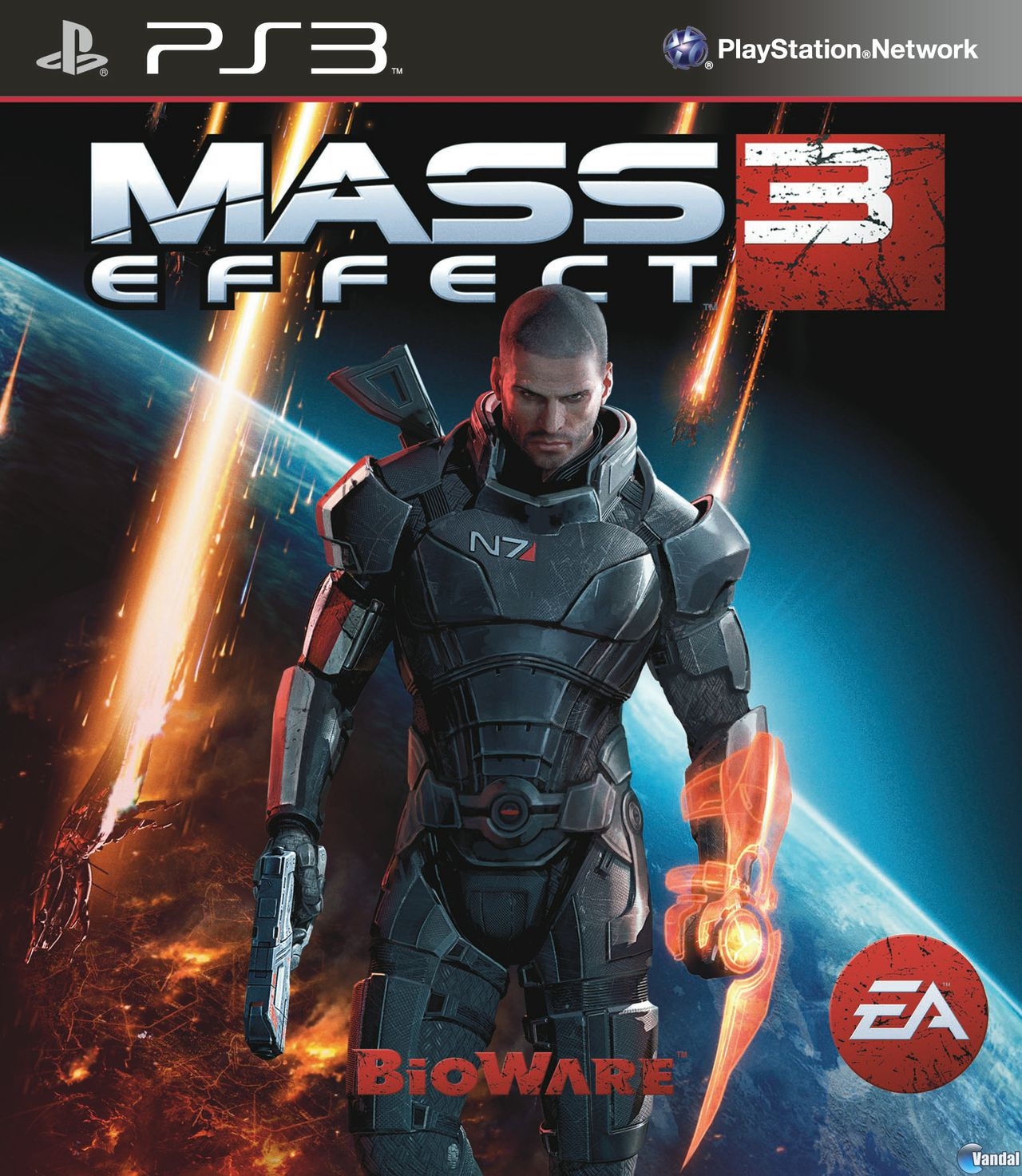 Car�tula Mass Effect 3 PlayStation 3