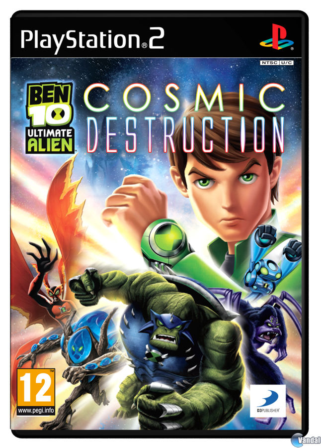 Car�tula Ben 10 Ultimate Alien Cosmic Destruction PlayStation 2