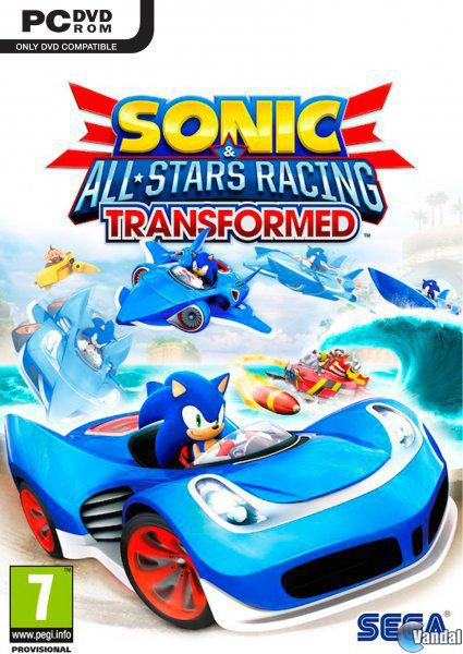 Car�tula Sonic & All-Stars Racing Transformed Ordenador