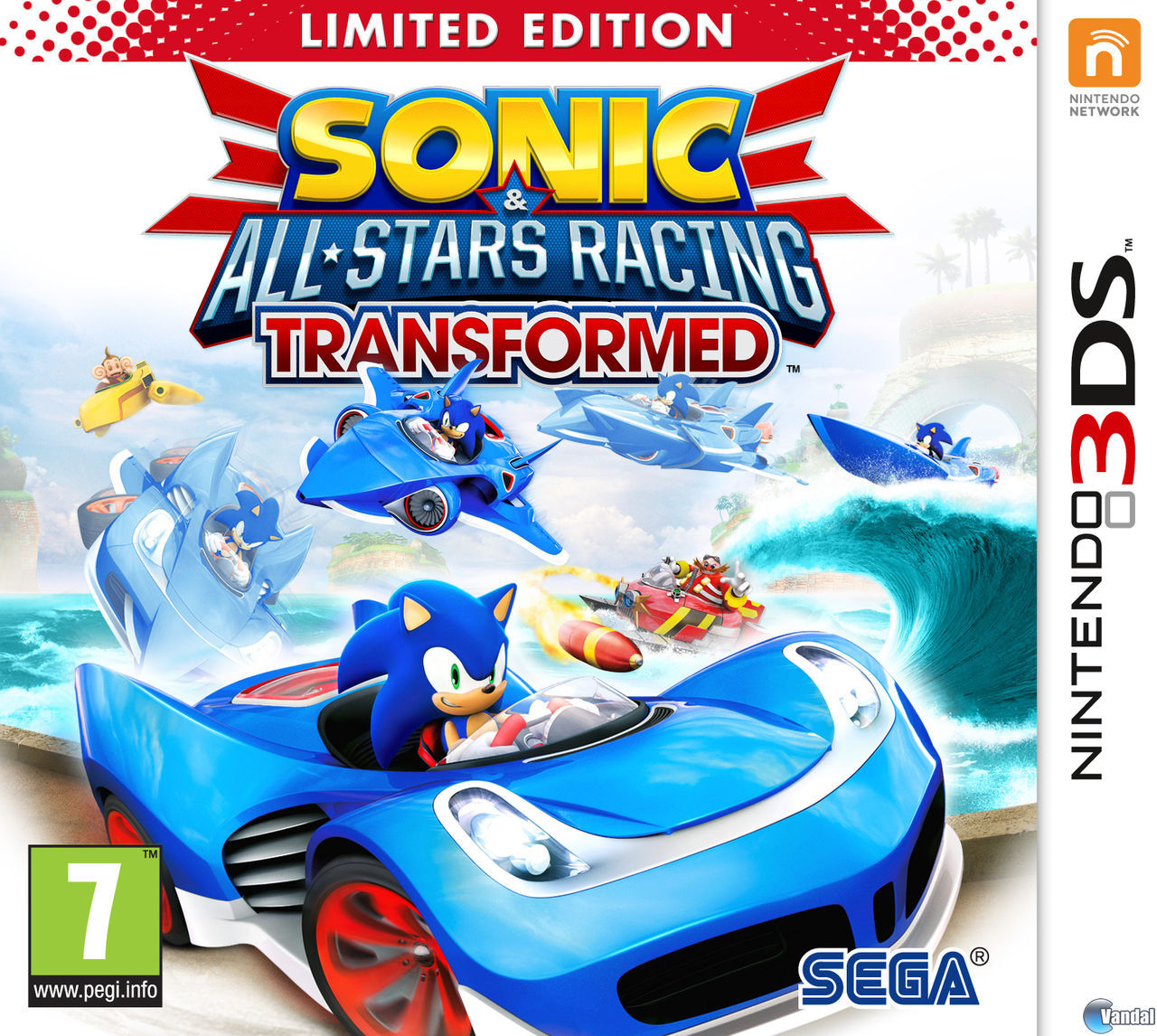 Car�tula Sonic & All-Stars Racing Transformed Nintendo 3DS