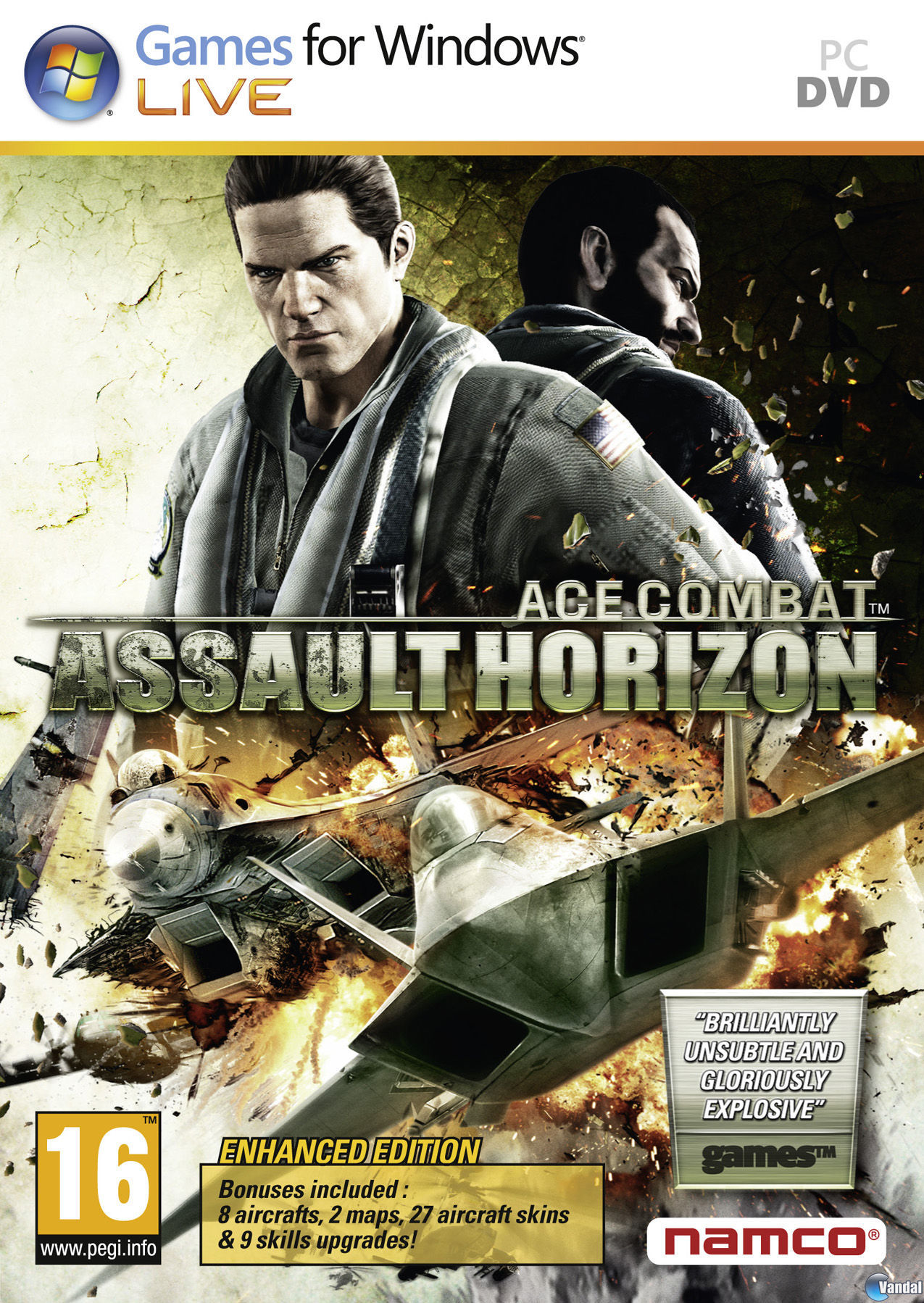 Car�tula Ace Combat Assault Horizon - Enhanced Edition Ordenador
