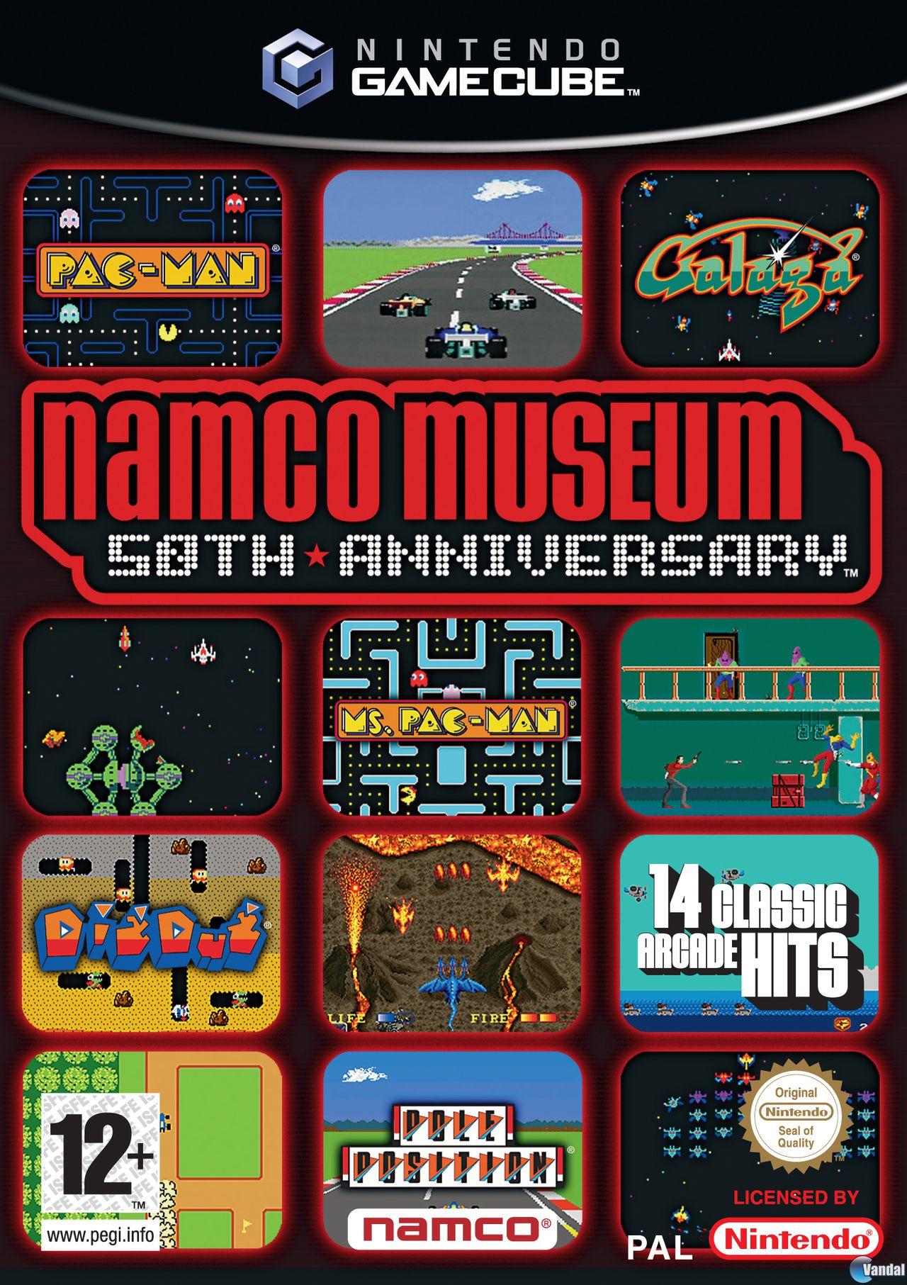 Carátula de Namco Museum 50th Anniversary para GameCube