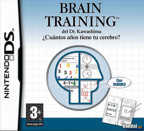 Car�tula Brain Training Nintendo DS