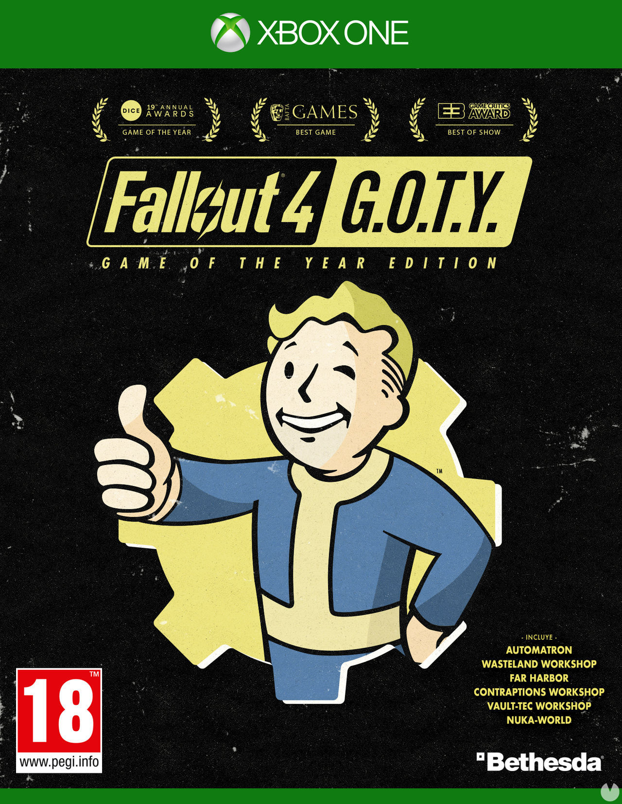 car tula fallout 4 game of the year edition xbox one vandal. Black Bedroom Furniture Sets. Home Design Ideas