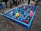Imagen 1 Pac-Man es inspiración para una pintura de efecto tridimensional