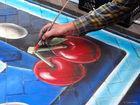 Imagen 3 Pac-Man es inspiración para una pintura de efecto tridimensional
