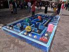 Imagen 7 Pac-Man es inspiración para una pintura de efecto tridimensional