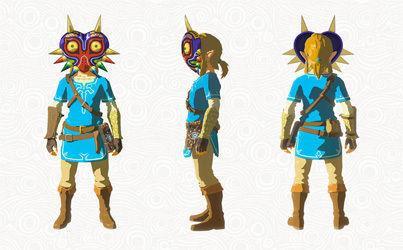 Link con la Máscara de Majora