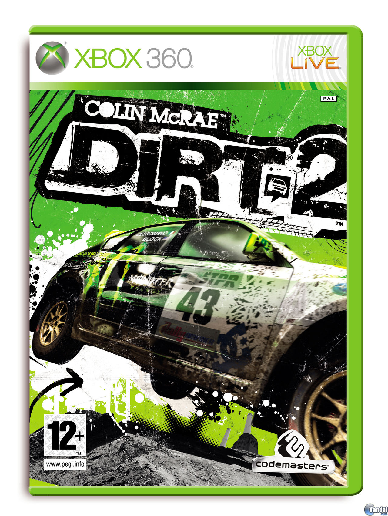 Car�tula Colin McRae: DIRT 2 Xbox 360
