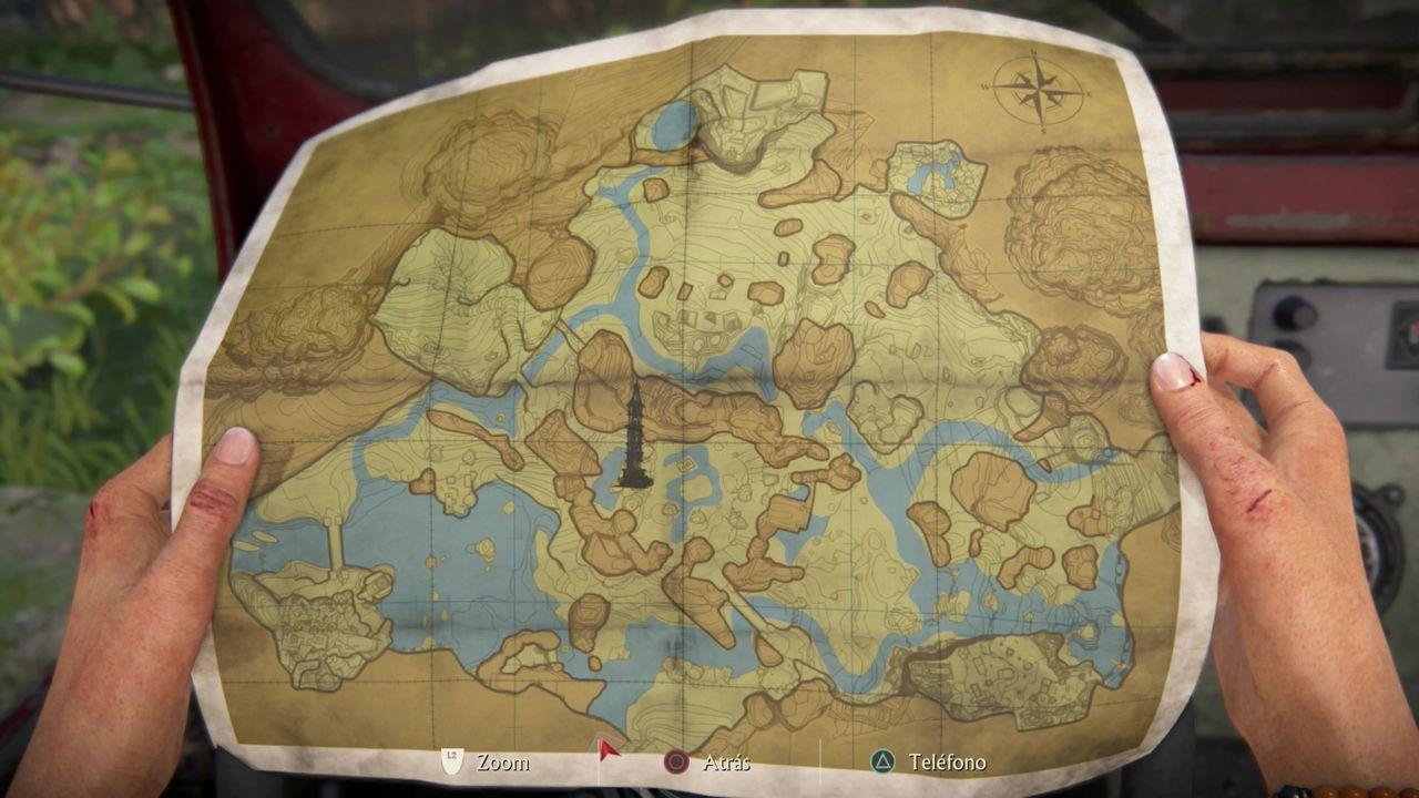 Mapa de coleccionables Capítulo 4 Los Ghats Occidentales