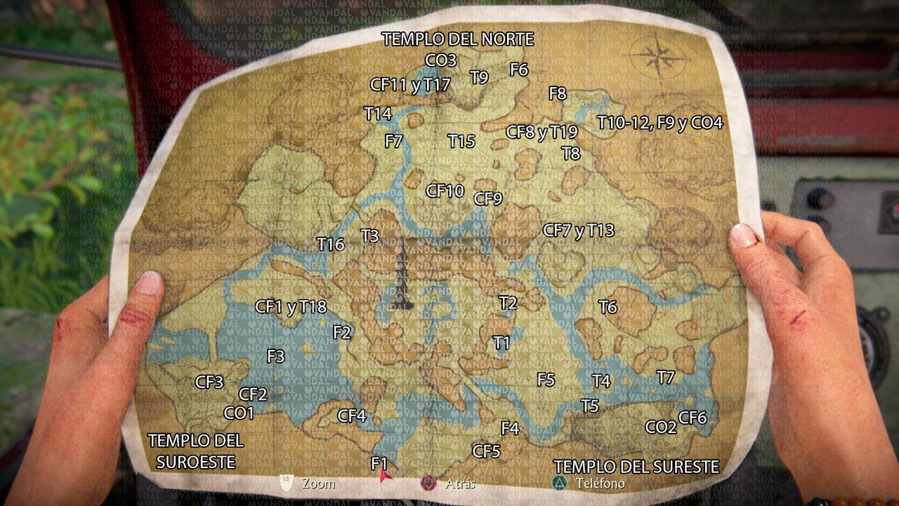 Dónde están los coleccionables de Uncharted Legado Perdido