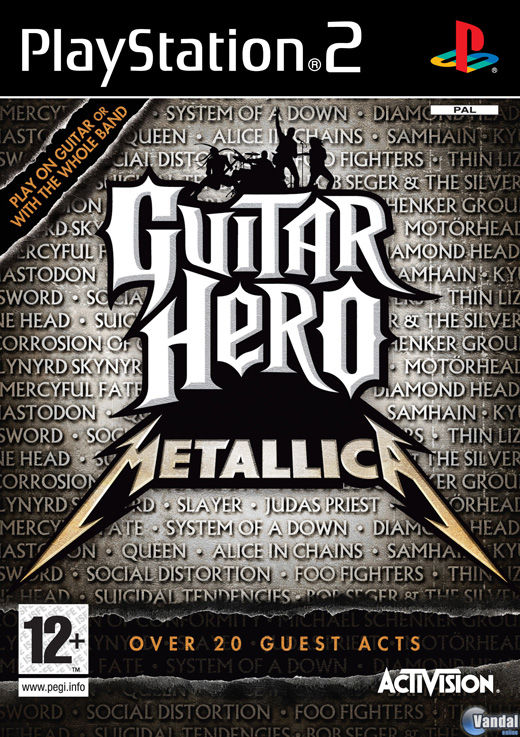 Car�tula Guitar Hero: Metallica PlayStation 2