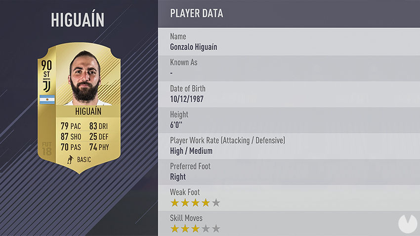 Higuaín FIFA 18