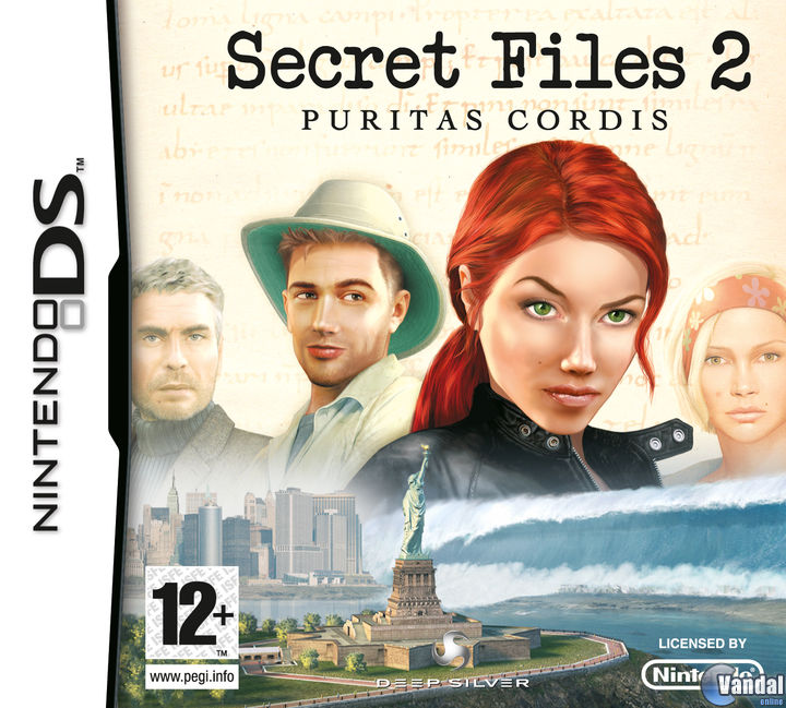 Car�tula Secret Files 2: Puritas Cordis Nintendo DS