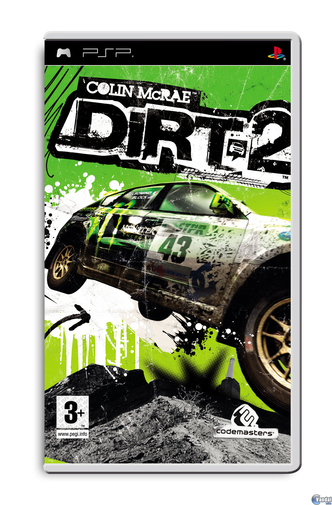 Car�tula Colin McRae: DIRT 2 PSP