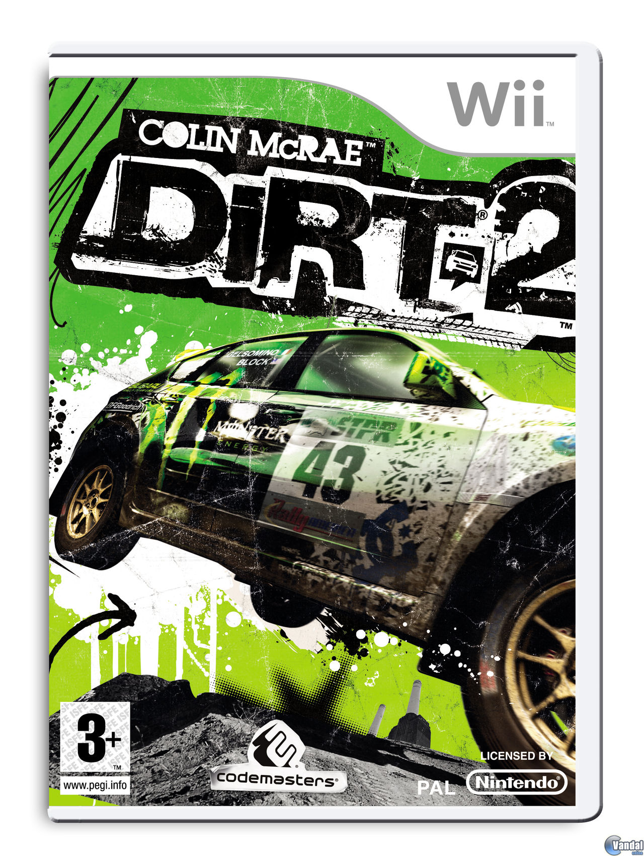 Car�tula Colin McRae: DIRT 2 Wii