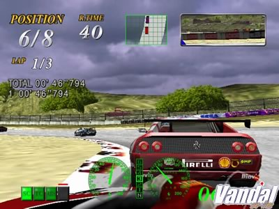 Nuevas imágenes de Ferrari F355 para PS2, con vista trasera