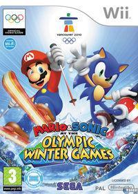 Portada oficial de Mario y Sonic en los Juegos Olímpicos de Invierno para Wii