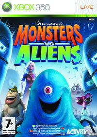 Portada oficial de Monsters vs. Aliens para Xbox 360