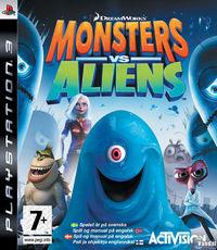 Portada oficial de Monsters vs. Aliens para PS3