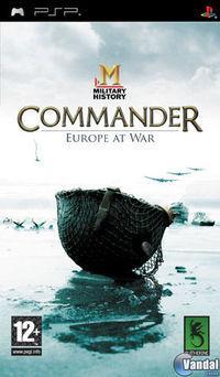Portada oficial de MILITARY HISTORY Commander: Europe at War para PSP