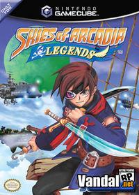 Portada oficial de Skies of Arcadia Legends para GameCube
