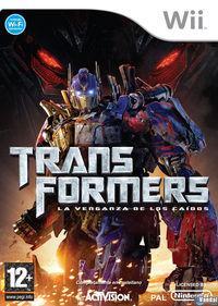 Portada oficial de Transformers: La Venganza de los Caídos – El Videojuego para Wii