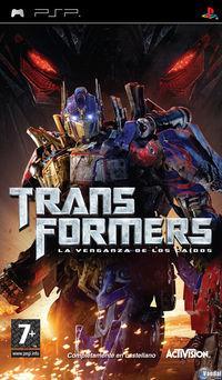 Portada oficial de Transformers: La Venganza de los Caídos – El Videojuego para PSP