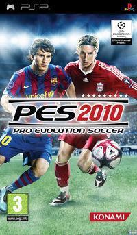 Portada oficial de Pro Evolution Soccer 2010 para PSP