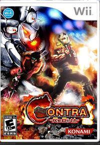 Portada oficial de Contra Rebirth WiiW para Wii
