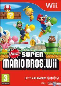 Portada oficial de New Super Mario Bros. Wii para Wii