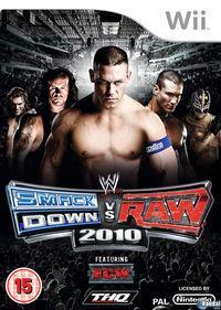 Portada oficial de WWE SmackDown vs RAW 2010 para Wii