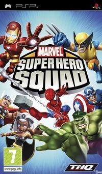 Portada oficial de Marvel Super Hero Squad para PSP