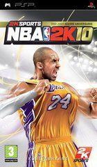 Portada oficial de NBA 2K10 para PSP
