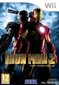Portada oficial de Iron Man 2 para Wii