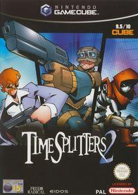 Portada oficial de TimeSplitters 2 para GameCube