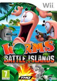 Portada oficial de Worms: Battle Islands para Wii