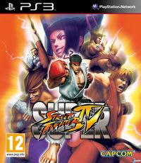 Portada oficial de Super Street Fighter IV para PS3