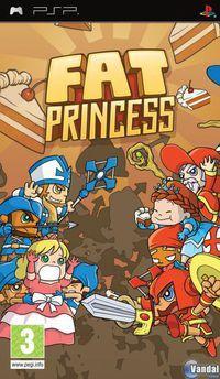 Portada oficial de Fat Princess para PSP