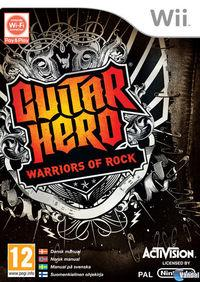 Portada oficial de Guitar Hero: Warriors of Rock para Wii