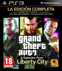 Portada oficial de Grand Theft Auto IV: The Ballad of Gay Tony para PS3