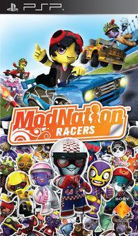 Portada oficial de ModNation Racers para PSP