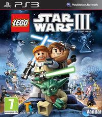 Portada oficial de LEGO Star Wars III: The Clone Wars para PS3
