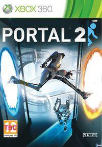 Portada oficial de Portal 2 para Xbox 360