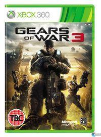 Portada oficial de Gears of War 3 para Xbox 360